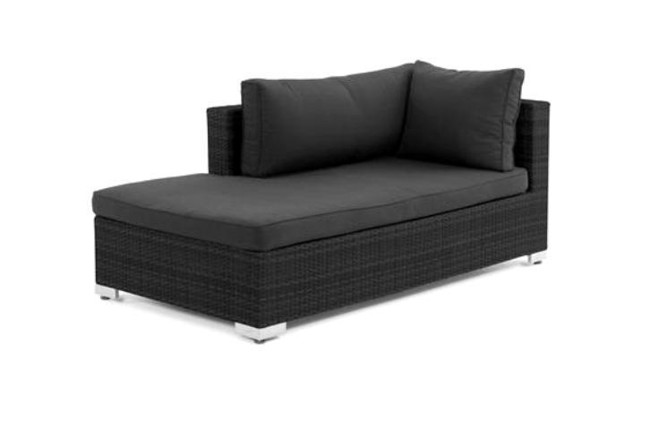 Плетеная софа Olympia-4Плетеная мебель из искусственного ротанга<br>Размер: 154х88 В66<br><br>Артикул: 3509H-8-26<br>Материалы: Искусственный ротанг<br>Каркас: Алюминиевый<br>Полный размер: 154х88 В66<br>Комплектация: Подушки<br>Цвет: Ротанг-черный, Ткань-серый<br>Изготовление и доставка: 2-3 дня<br>Условия доставки: Бесплатная по Москве до подъезда<br>Условие оплаты: Оплата наличными при получении товара<br>Гарантия: 12 месяцев<br>Производство: Швеция<br>Производитель: Brafab