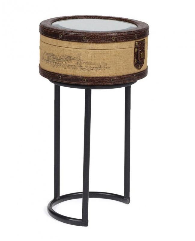 Придиванный круглый столик Molto Bene PiccolaЖурнальные столики<br><br><br>Артикул: DG-F-TBL66C<br>Материалы: Металлический каркас, МДФ, джут, зеркало<br>Полный размер: 28,5х28,5 В51,5<br>Вес товара (кг): 9,3<br>Комплектация: Вместительный ящик<br>Изготовление и доставка: 2-3 дня<br>Условия доставки: Бесплатная по Москве до подъезда<br>Стиль: Ампир, барокко, прованс, лофт, ретро, кантри, классический, английский, французский, арабский<br>Производитель: DG-HOME