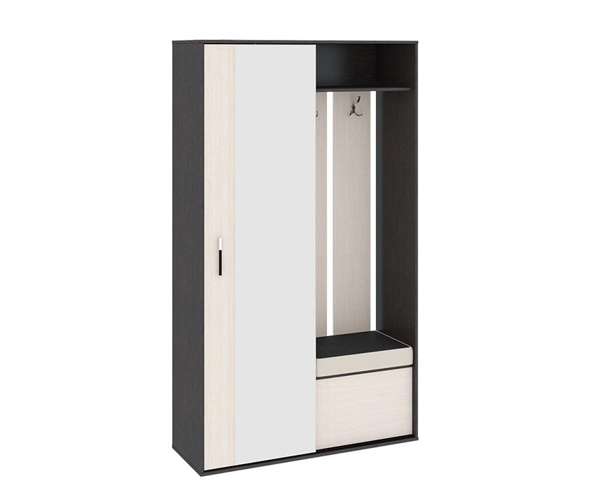 Набор мебели для прихожей Пикассо 4Прихожие<br>Размер: 1210х440 В2116<br><br>Материалы: Каркас ЛДСП; фасад - зеркало, ДСП; ручки - пластик<br>Полный размер (ДхГхВ): 1210х440х2116<br>Вес товара (кг): 94<br>Комплектация: Полки ЛДСП, штанга, крючки, зеркало, фурнитура<br>Цвет: Венге Цаво / Дуб Белфорт<br>Примечание: Доставляется в разобранном виде<br>Изготовление и доставка: Склад до 5 дней, под заказ 2-3 недели<br>Условия доставки: Бесплатная по Москве до подъезда<br>Условие оплаты: Оплата наличными при получении товара<br>Доставка по МО (за пределами МКАД): 35 руб./км. Доставка за МКАД, за пределы трассы А-107 (ММК)<br>Доставка в пределах ТТК: +1000 руб. Доставка в центр Москвы осуществляется ночью, с 22.00 до 7.00 утра<br>Подъем на грузовом лифте: 4% от стоимости изделия<br>Подъем без лифта: 2% от стоимости изделия за 1 этаж<br>Сборка: 1000 руб., выезд сборщика за МКАД+500 руб.<br>Гарантия: 18 месяца<br>Производство: Россия<br>Производитель: ТриЯ
