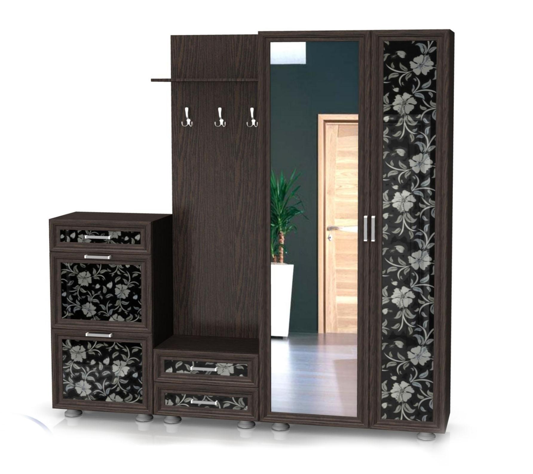 Модульная прихожая Латте композиция №1 модульная мебель композиция 7 б