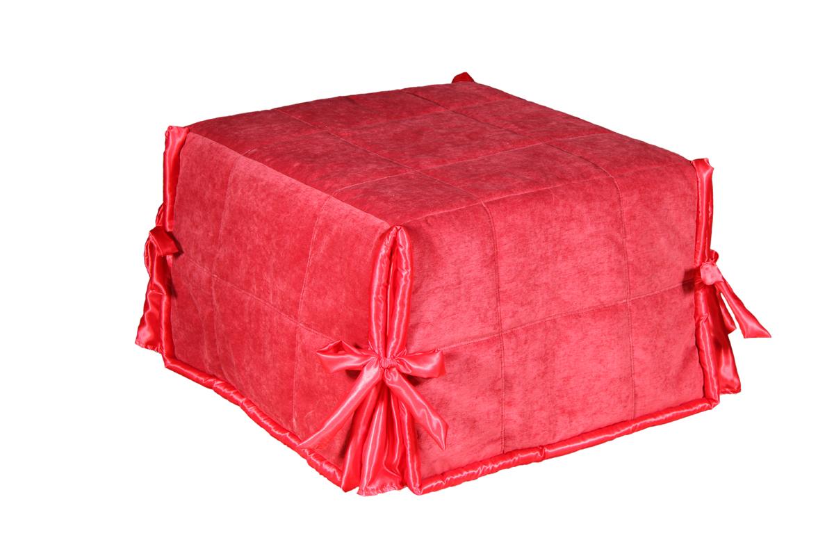Пуф ЛюксПуфики<br>Размер: 73х73 (сп.м. 70х213)<br><br>Полный размер: 73х73<br>Спальное место: 70х213<br>Наполнитель: ППУ высокой плотности (Пенополиуретан)<br>Съемный чехол: Да<br>Примечание: Стоимость указана по минимальной категории ткани<br>Изготовление и доставка: 8-10 дней<br>Условия доставки: Бесплатная по Москве до подъезда<br>Условие оплаты: Оплата наличными при получении товара<br>Доставка по МО (за пределами МКАД): 30 руб./км<br>Доставка в пределах ТТК: Доставка в центр Москвы осуществляется ночью, с 22.00 до 6.00 утра<br>Подъем на грузовом лифте: 300 руб.<br>Подъем без лифта: 150 руб./этаж, включая первый<br>Гарантия: 12 месяцев<br>Производство: Россия<br>Производитель: Mebelus