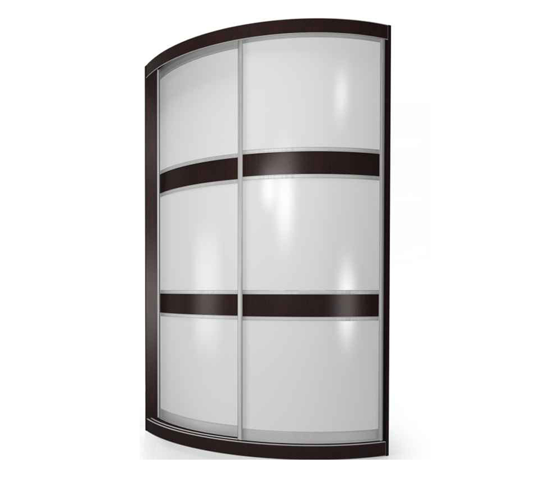 Радиусный шкаф-купе Мебелайн-1 тумба мебелайн 5