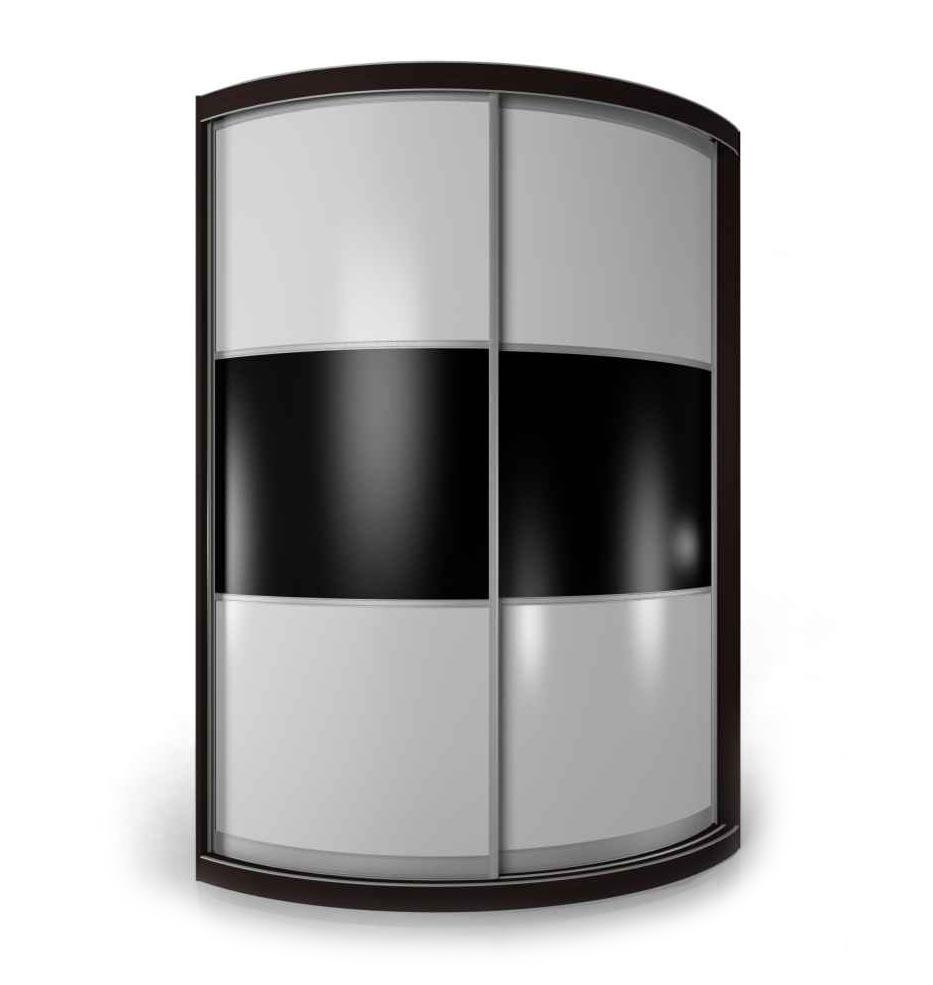 Радиусный шкаф-купе Мебелайн-12 радиусный шкаф купе мебелайн 7