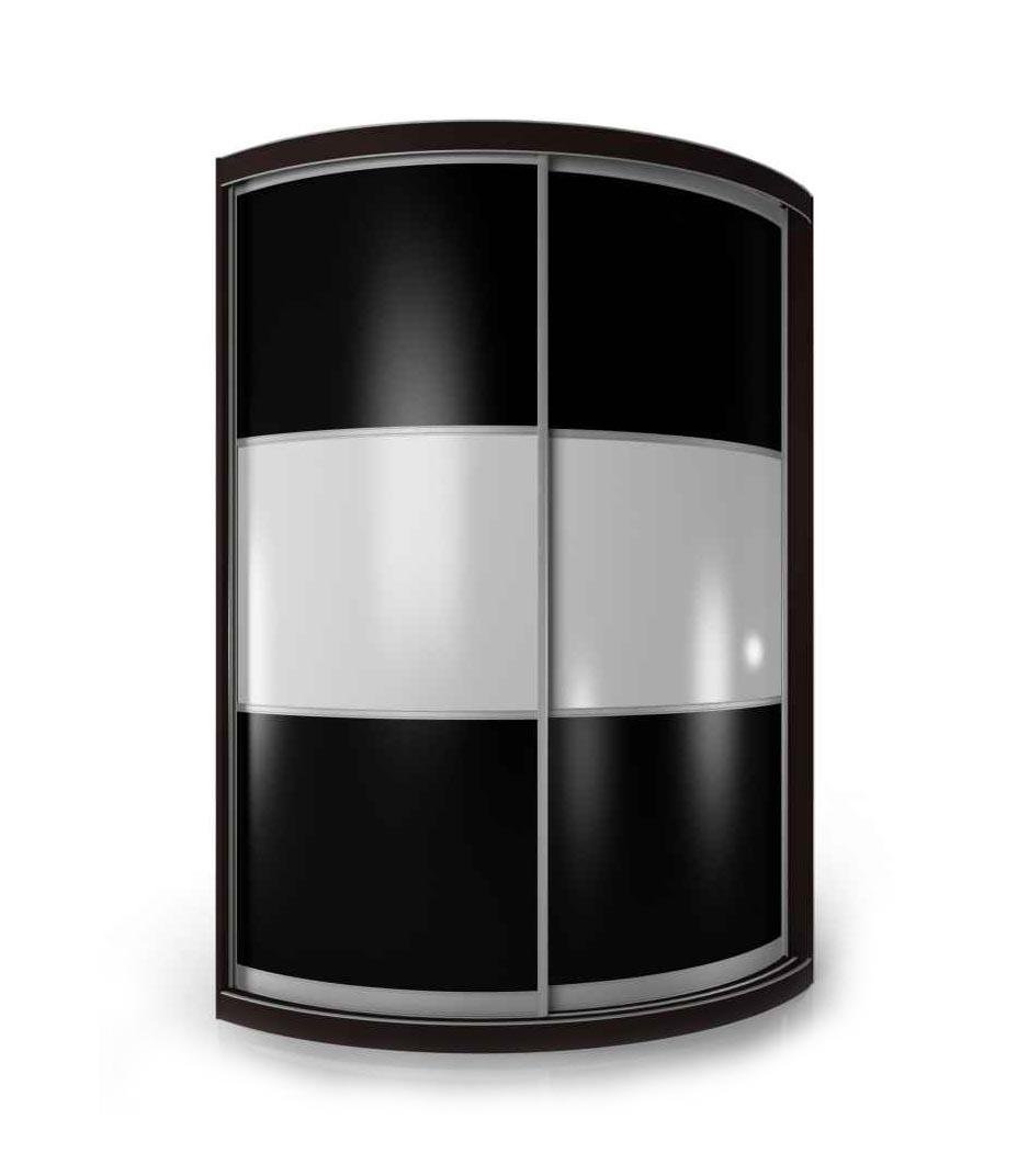 Радиусный шкаф-купе Мебелайн-13 радиусный шкаф купе мебелайн 7