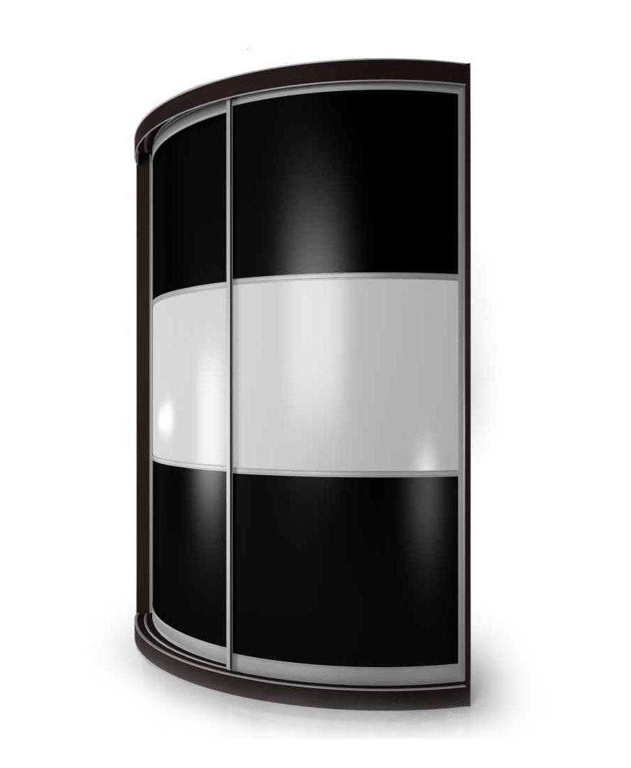 Радиусный шкаф-купе Мебелайн-15 радиусный шкаф купе мебелайн 5