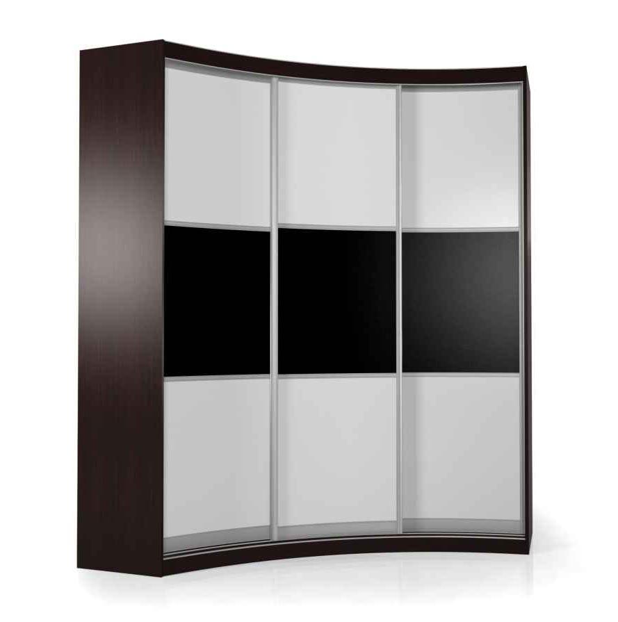 Радиусный шкаф-купе Мебелайн-18 радиусный шкаф купе мебелайн 5