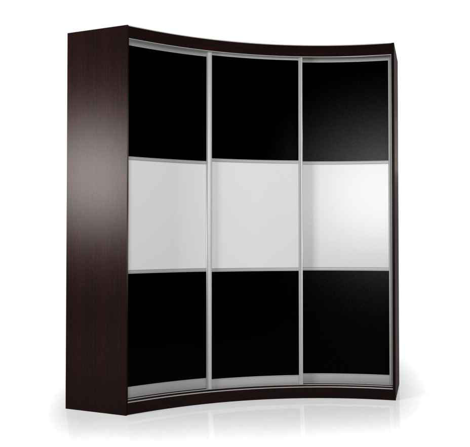 Радиусный шкаф-купе Мебелайн-19 радиусный шкаф купе мебелайн 2