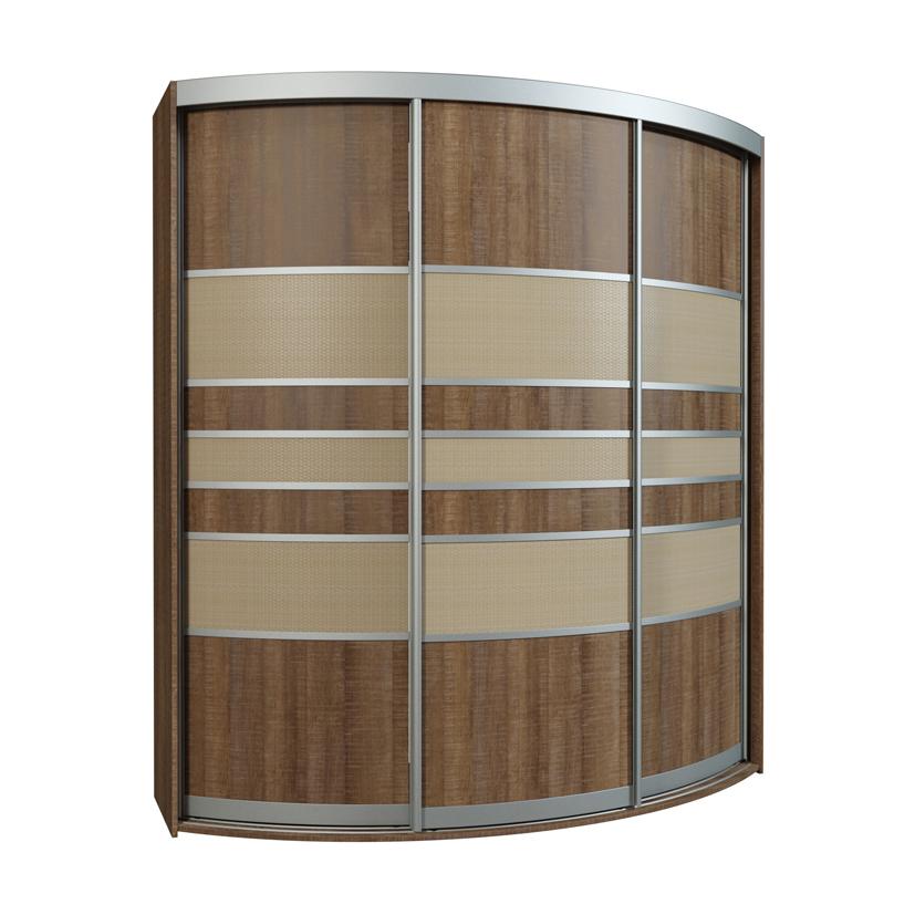 Радиусный шкаф-купе Севилья 3-1 шкаф купе мебелайн 1 с фотопечатью еда