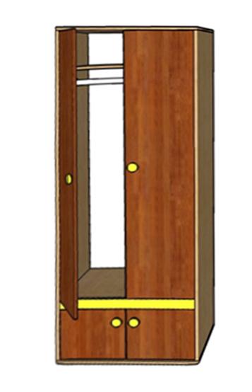 Шкаф платяной Ассоль А-3 (Грос)