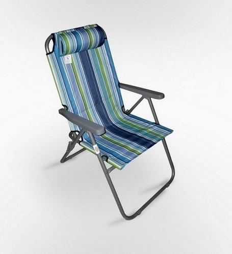 Кресло складное с подголовником \ (Афина Мебель)