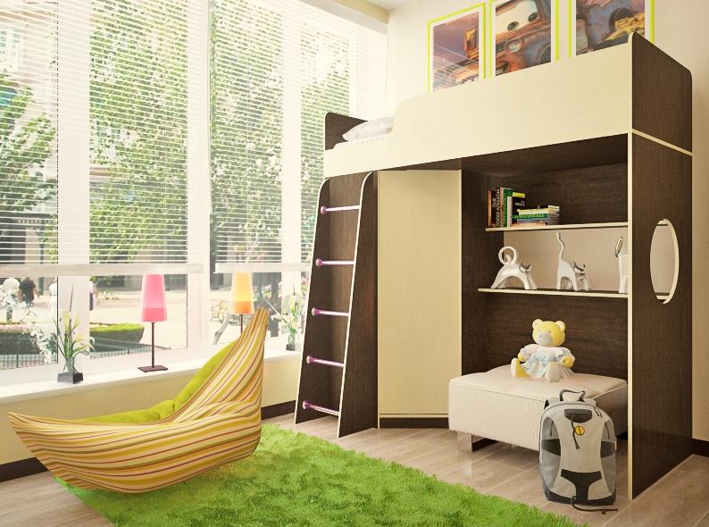 Детская комната Орбита-3 без столика (Фиеста Эко)