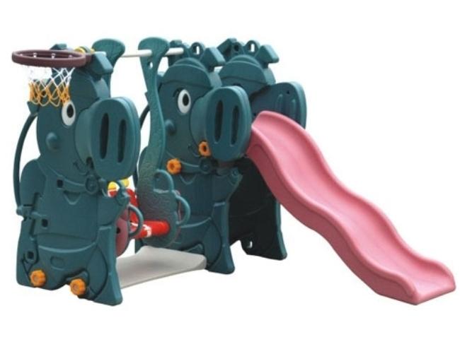 Горка с качелями Динозавры Vasia (Vasia)