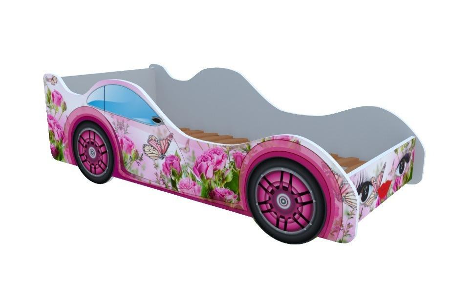 Кроватка Бабочка в розах (Кровати-машинки)
