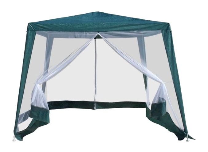 Садовый шатер AFM-1035NAШатры, тенты, зонтики<br><br><br>Артикул: AFM-1035NA<br>Материалы: Полипропиленовая ткань - 120 гр<br>Каркас: Труба сталь D25х19х19<br>Полный размер: 300x300 В240<br>Вес товара (кг): 8<br>Цвет: Green, blue, white<br>Примечание: Стенки: москитная сетка с молнией<br>Изготовление и доставка: 2-3 дня<br>Условия доставки: Бесплатная по Москве до подъезда<br>Условие оплаты: Оплата наличными при получении товара<br>Производство: Китай<br>Производитель: Афина Мебель