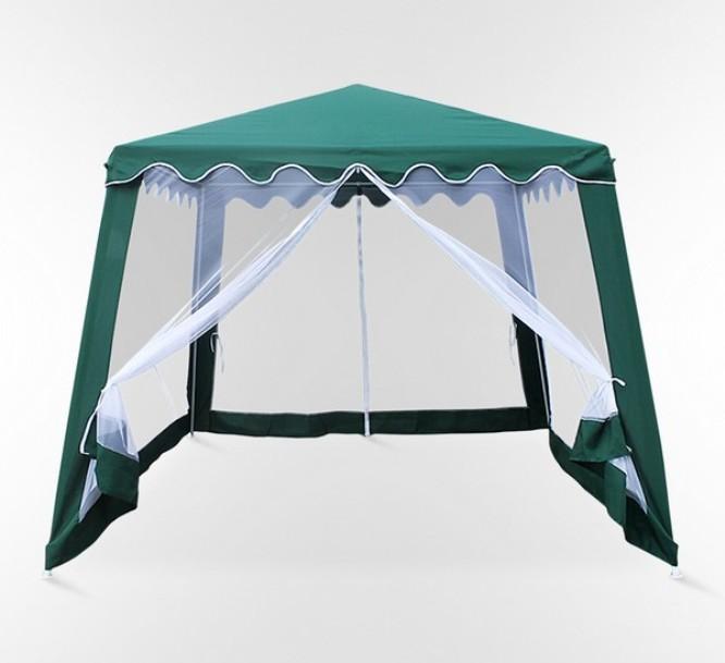Садовый шатер AFM-1036NAШатры, тенты, зонтики<br><br><br>Артикул: AFM-1036NA<br>Материалы: Полиэстер - 160 гр<br>Каркас: Труба сталь D25х19х19<br>Полный размер: 300х300 В240<br>Вес товара (кг): 8<br>Цвет: Green, grey<br>Примечание: Стенки: москитная сетка с молнией<br>Изготовление и доставка: 2-3 дня<br>Условия доставки: Бесплатная по Москве до подъезда<br>Условие оплаты: Оплата наличными при получении товара<br>Производство: Китай<br>Производитель: Афина Мебель