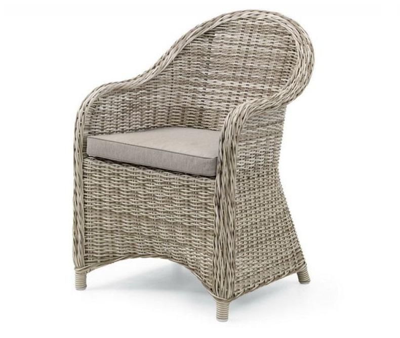 Плетеное кресло San Diego beigeПлетеная мебель из искусственного ротанга<br>Размер: 47х44,5х42,5 высота 85, глубина 58<br><br>Артикул: 10551-51-21<br>Материалы: Искусственный ротанг<br>Каркас: Алюминиевый<br>Полный размер: 47х44,5х42,5 высота 85, глубина 58<br>Высота сиденья (см): 43<br>Наполнитель: ППУ высокой плотности (Пенополиуретан)<br>Вес товара (кг): 18<br>Комплектация: Подушка<br>Цвет: Светло-бежевый<br>Изготовление и доставка: 2-3 дня<br>Условия доставки: Бесплатная по Москве до подъезда<br>Условие оплаты: Оплата наличными при получении товара<br>Гарантия: 12 месяцев<br>Производство: Швеция<br>Производитель: Brafab