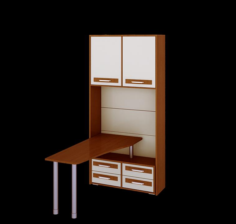 Шкаф с нишей и столом ОрионДетские стеллажи и навесные полки<br>Размер: 1054х434х2200<br>