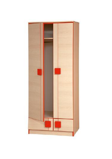 Шкаф для одежды Севилья 1Детские шкафы<br>Размер: 800х1904х558<br><br>Материалы: ЛДСП, кромка ПВХ<br>Полный размер: 800х1904х558<br>Цвет: Дуб Линдберг/Красный глянец, Дуб Линдберг/Синий глянец<br>Примечание: Доставляется в разобранном виде<br>Изготовление и доставка: 7-14 дней<br>Условия доставки: Бесплатная по Москве до подъезда<br>Условие оплаты: Оплата наличными при получении товара<br>Подъем на грузовом лифте: 500 руб.<br>Подъем без лифта: 250 руб./этаж, включая первый<br>Сборка: 10% от стоимости изделия, но не менее 1000 руб<br>Гарантия: 12 месяцев<br>Производство: Россия, г. Нижний Новгород<br>Производитель: Олмеко