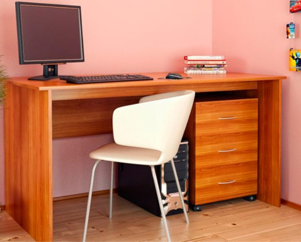 Письменный стол с выкатной тумбой СФ 02.5