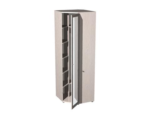 Шкаф угловой платяной с зеркалом ШО-22