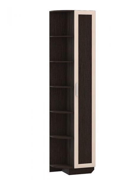 Шкаф-сегмент Верона 1801Шкафы<br>Размер: 364х2374х586<br><br>Материалы: ЛДСП 16-22 мм, фасады декорированы накладным профилем МДФ<br>Полный размер (ДхВхГ): 586х2374х364<br>Вес товара (кг): 54<br>Цвет: Венге Магия/Дуб Паллада<br>Примечание: Доставляется в разобранном виде<br>Изготовление и доставка: 21-25 дней<br>Условия доставки: Бесплатная по Москве до подъезда<br>Условие оплаты: Оплата наличными при получении товара<br>Доставка по МО (за пределами МКАД): 35 руб./км. Доставка за МКАД, за пределы трассы А-107 (ММК)<br>Доставка в пределах ТТК: +1000 руб. Доставка в центр Москвы осуществляется ночью, с 22.00 до 7.00 утра<br>Подъем на грузовом лифте: 3% от стоимости изделия<br>Подъем без лифта: 2% от стоимости изделия за 1 этаж<br>Сборка: 10% от стоимости изделия. Выезд сборщика за МКАД до 30 км (за исключением близлежащих районов Москвы - Южное Бутово, Митино и т.п.) - 500 руб. дополнительно к стоимости сборки, от 30 до 100 км - 1000 руб.<br>Гарантия: 18 месяцев<br>Производство: Россия<br>Производитель: NiK