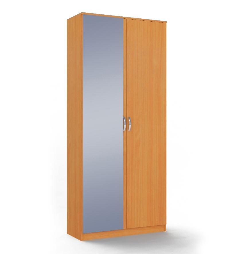 Шкаф 2-х дверный с зеркалом Ольга