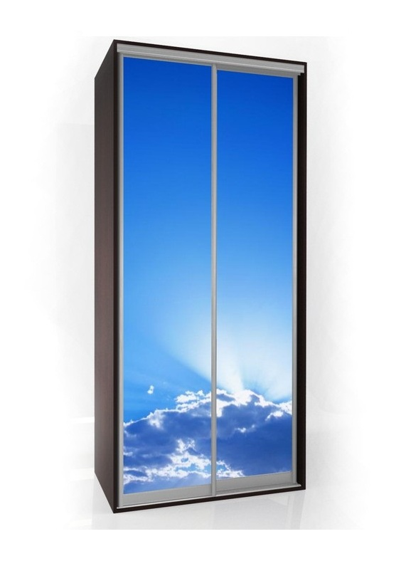 Шкаф-купе Мебелайн-1 с фотопечатью Небо радиусный шкаф купе мебелайн 7
