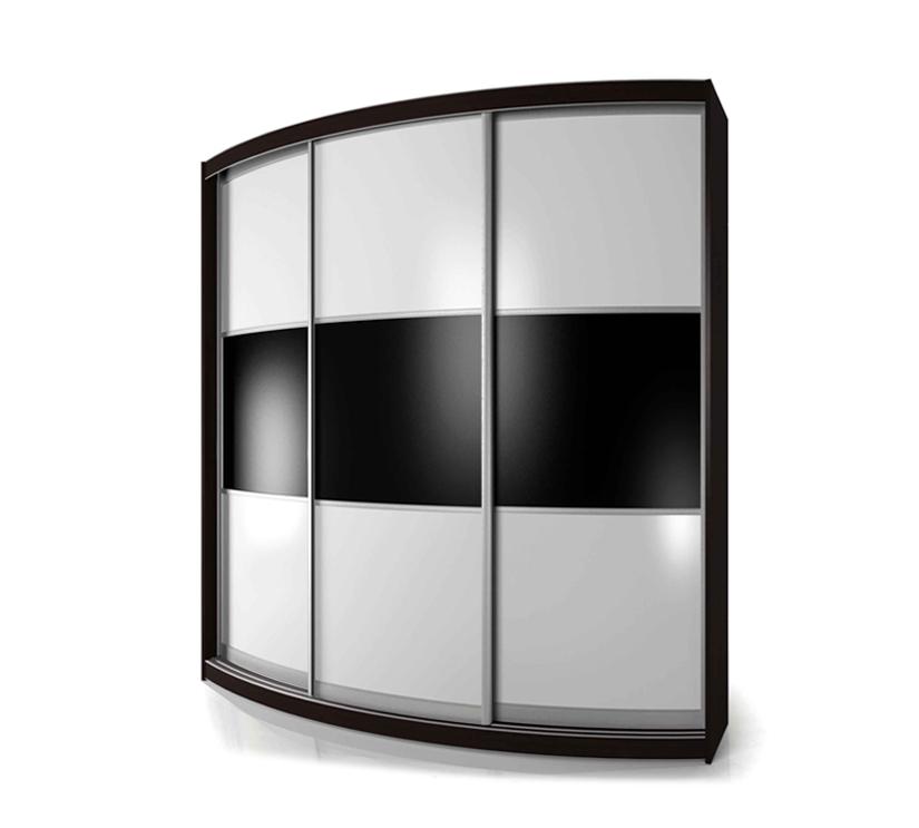 Радиусный шкаф-купе Мебелайн-5 радиусный шкаф купе мебелайн 5