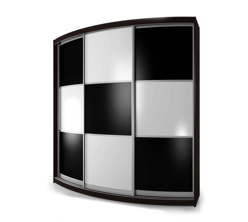 Радиусный шкаф-купе Мебелайн-7 радиусный шкаф купе мебелайн 5