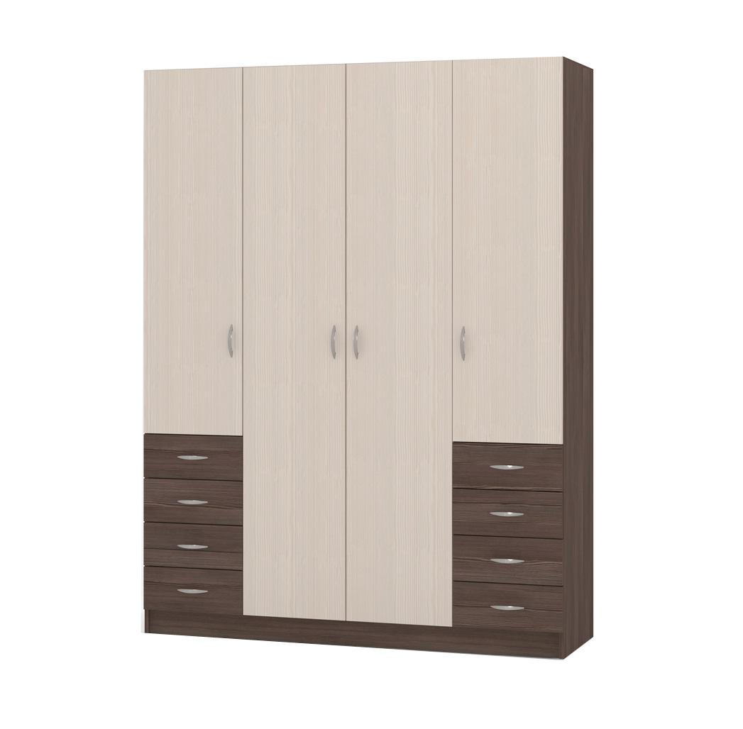 Шкаф распашной РИО-4.5 четырехдверный шкаф распашной рио 4 4