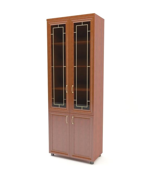 Шкаф распашной Премьер 4-х дверный с витриной Баронс