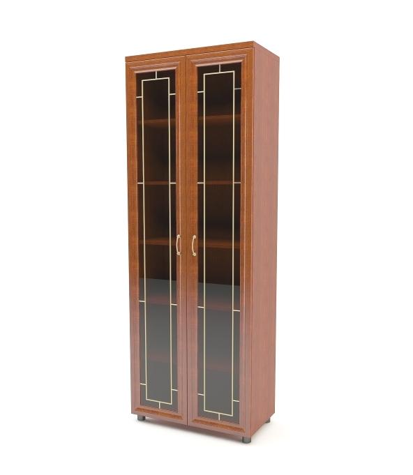 Шкаф распашной Премьер 2-х дверный с витриной Баронс Групп