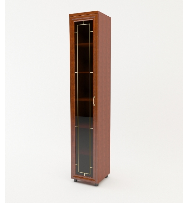 Шкаф распашной Премьер 1 дверный с витриной