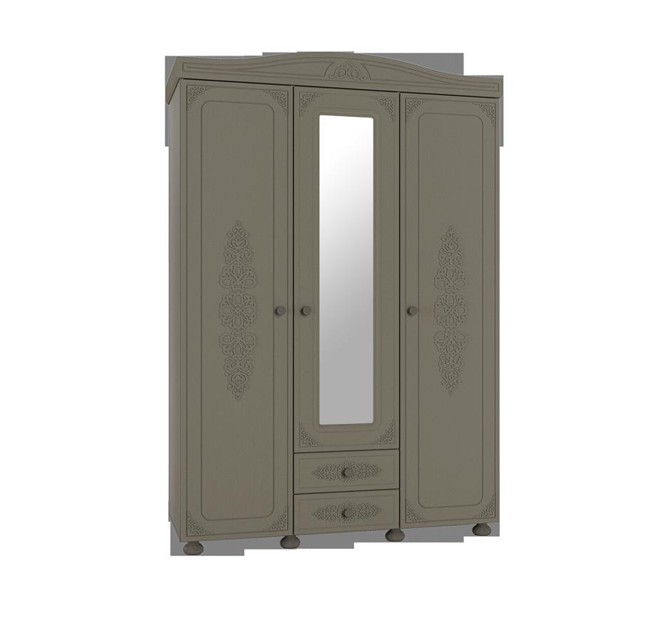 Шкаф 3-х створчатый с зеркалом Ассоль Плюс АС-27 шкаф витрина компасс мебель ассоль плюс ас 01