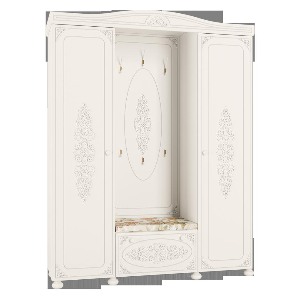 Шкаф комбинированный Ассоль АС-35 шкаф витрина компасс мебель ассоль плюс ас 01