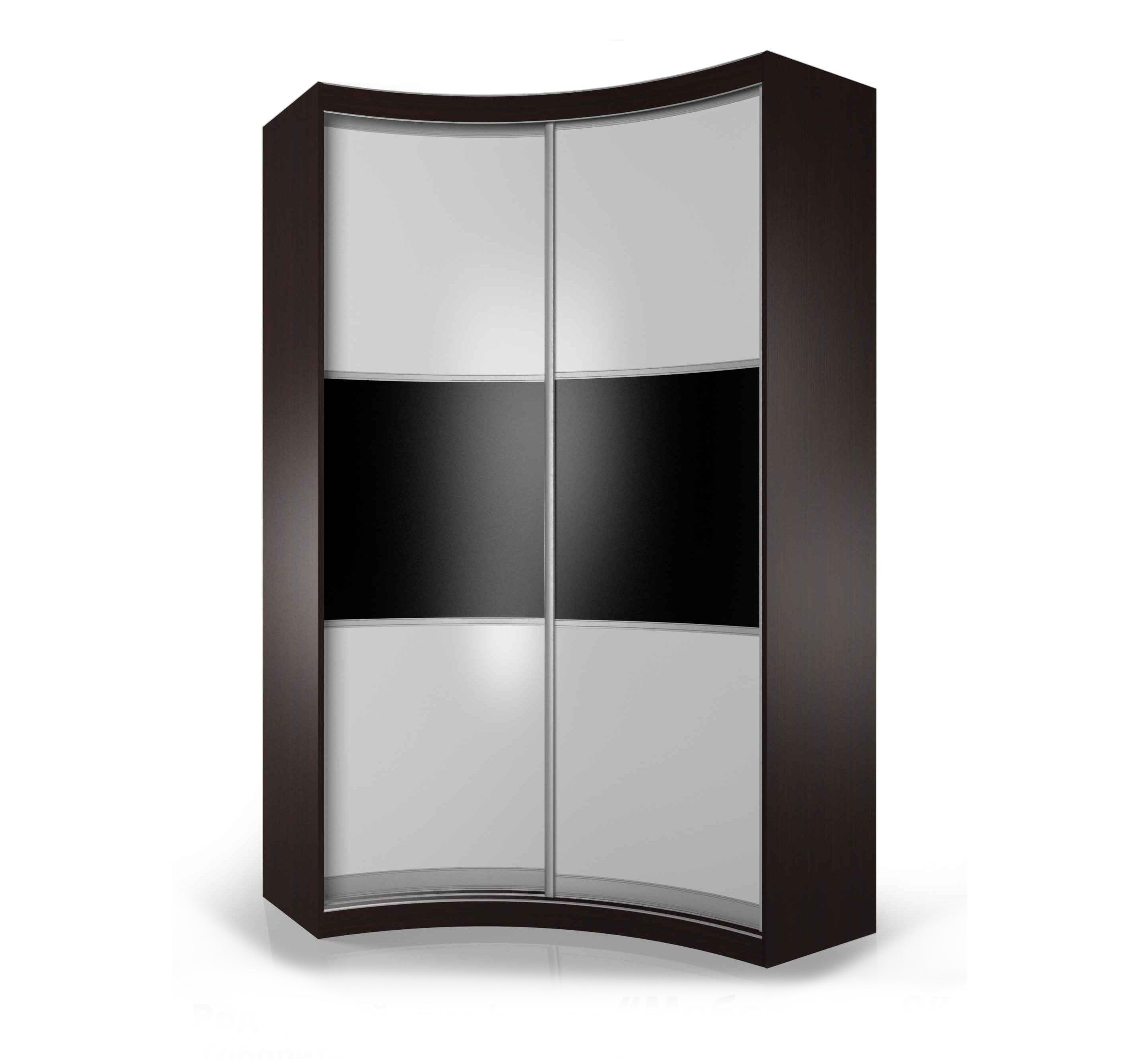 Радиусный шкаф-купе мебелайн-14 купить в интернет-магазине, .