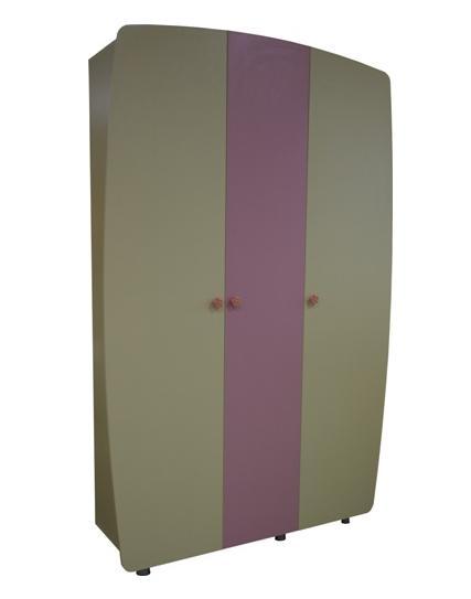Шкаф трехстворчатый НастенькаДетские шкафы<br>Размер: 1438х2220х520<br><br>Материалы: ЛДСП, кромка ПВХ<br>Полный размер: 1438х2220х520<br>Вес товара (кг): 107<br>Цвет: Ваниль/Розовый<br>Примечание: Доставляется в разобранном виде<br>Изготовление и доставка: 1 месяц<br>Количество упаковок: 2 шт<br>Условия доставки: Бесплатная по Москве до подъезда<br>Условие оплаты: Оплата наличными при получении товара<br>Подъем на грузовом лифте: 500 руб.<br>Подъем без лифта: 250 руб./этаж включая первый<br>Сборка: 10% от стоимости изделия, но не менее 1,000 руб.<br>Гарантия: 12 месяцев<br>Производство: Россия<br>Производитель: МК Премиум