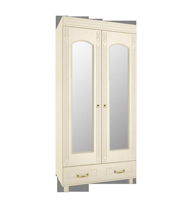 Шкаф платяной с зеркалом Элизабет ЭМ-16 кровать элизабет эм 14
