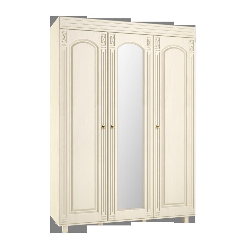 Шкаф трехстворчатый с зеркалом Элизабет ЭМ-18 кровать элизабет эм 14
