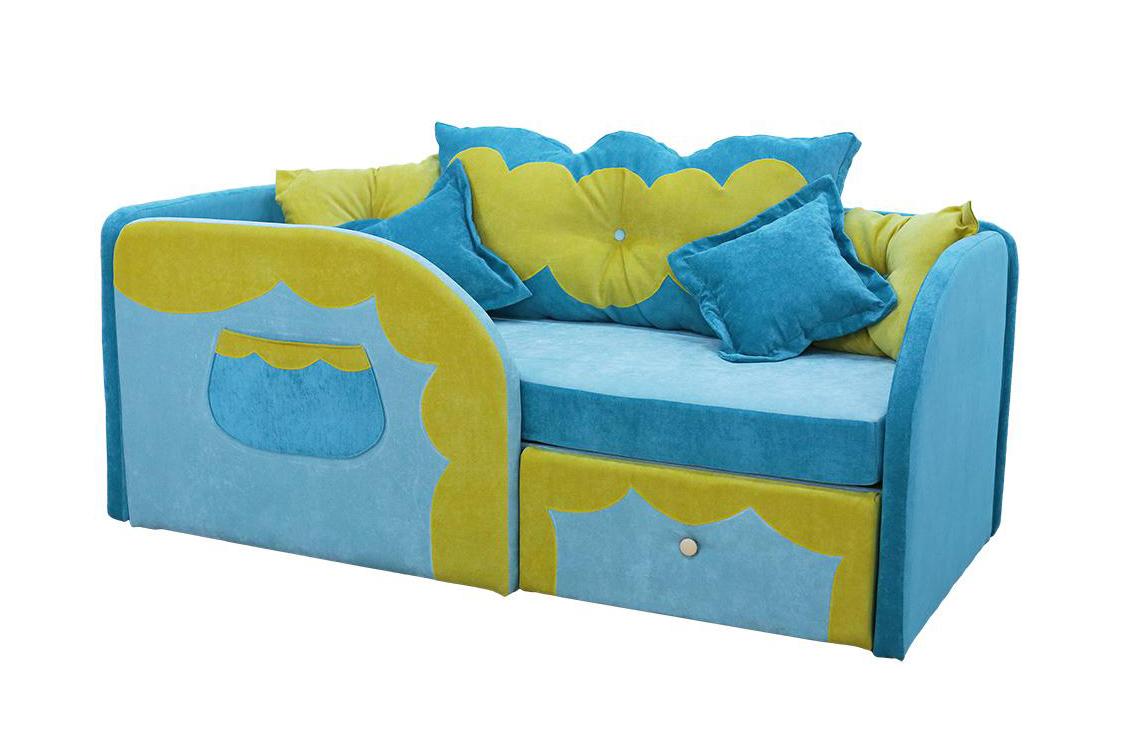 Детский диван СказкаДетские диваны<br>Размер: 80х170<br><br>Механизм: Нераскладной<br>Каркас: Деревянный<br>Полный размер: 80х170<br>Спальное место: 70х160<br>Наполнитель: ППУ высокой плотности (Пенополиуретан)<br>Комплектация: Ящик для белья, декоративные подушки<br>Ткань: Velvet lux<br>Примечание: Стоимость указана по минимальной категории ткани<br>Изготовление и доставка: 8-10 дней<br>Условия доставки: Бесплатная по Москве до подъезда<br>Условие оплаты: Оплата наличными при получении товара<br>Подъем на грузовом лифте: 500 руб<br>Подъем без лифта: 250 руб./этаж включая первый<br>Сборка: 200 руб.<br>Гарантия: 12 месяцев<br>Производство: Россия<br>Производитель: Mebelus