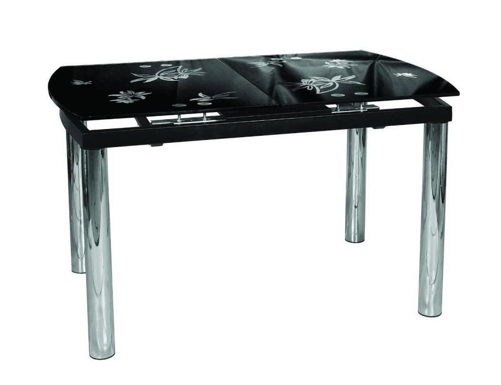 Стол обеденный СМ-010Обеденные столы<br>Размер: 118(148)х75 В76<br><br>Материалы: Основание - хром, столешница - черное стекло с рисунком<br>Полный размер (ДхГхВ): 118/148х75х76<br>Вес товара (кг): 43 кг<br>Изготовление и доставка: 2-3 дня<br>Условия доставки: Бесплатная по Москве до подъезда<br>Условие оплаты: Оплата наличными при получении товара<br>Доставка по МО (за пределами МКАД): 30 руб./км<br>Подъем на лифте: 500 руб.<br>Гарантия: 12 месяцев<br>Производство: Беларусь