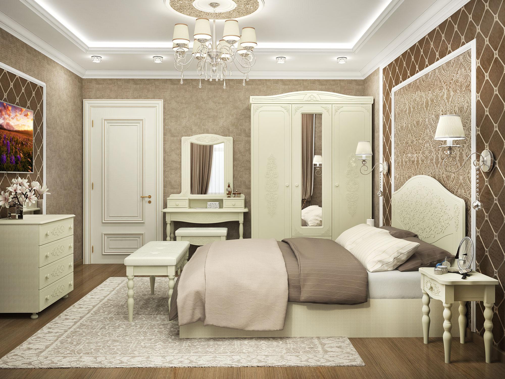 Модульная спальня Ассоль Плюс-1