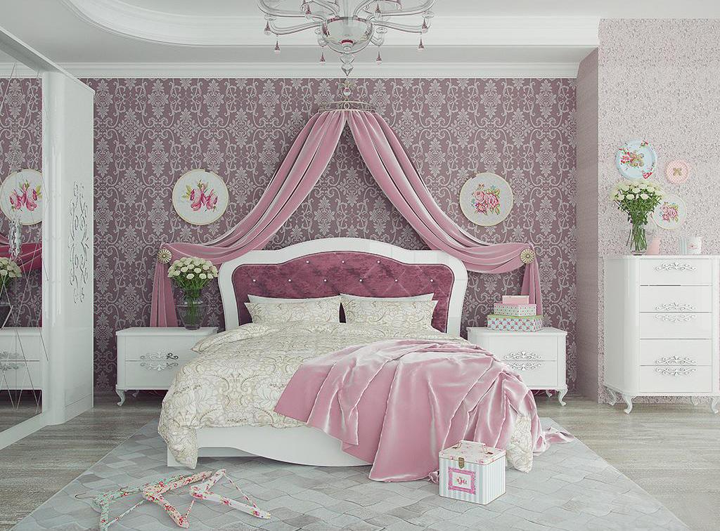 Модульная спальня Бланж Комплектация-2 модульная спальня магия комплектация 2