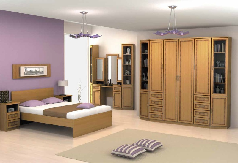 Модульная спальня Гарун комплектация 4 шкаф обувной бона 4