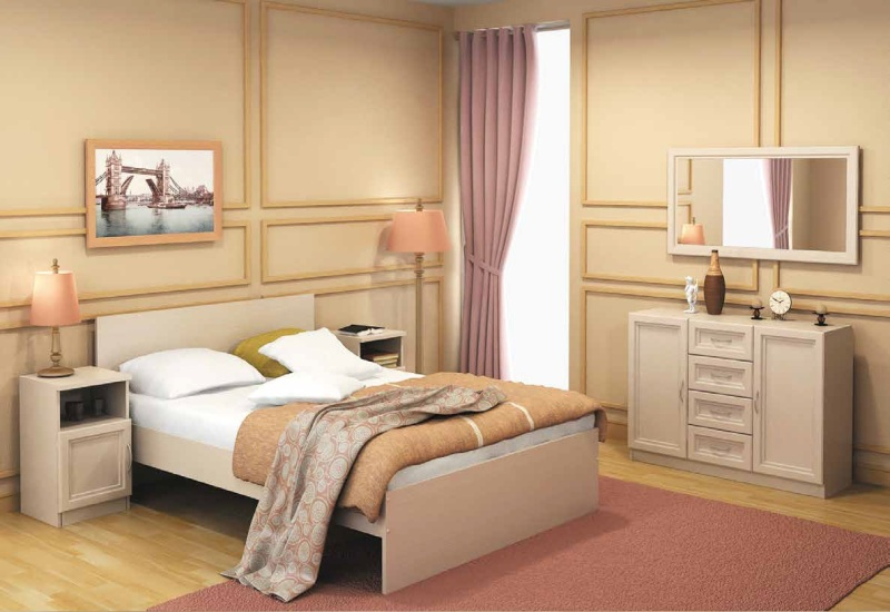Модульная спальня Гарун комплектация 6 модульная библиотека гарун комплектация 2