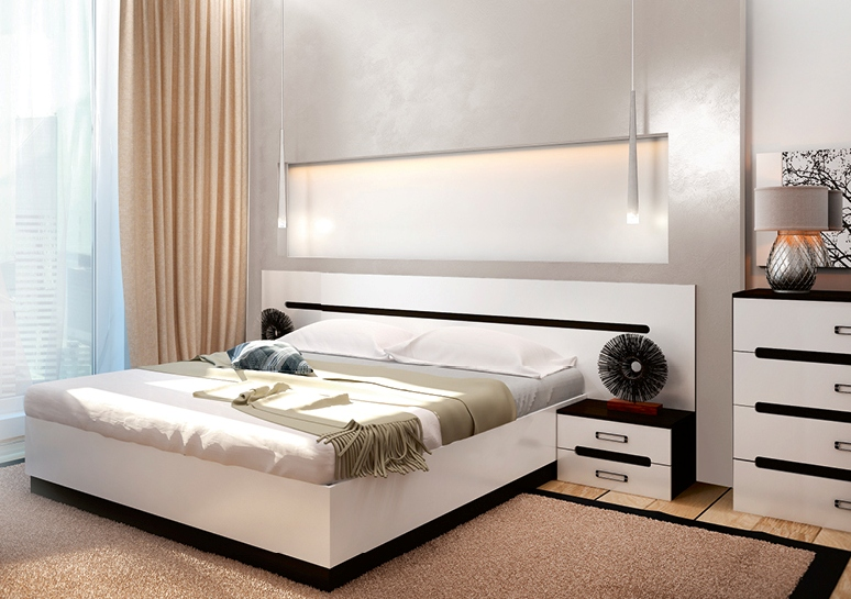 Модульная спальня Вегас-2 комод лидер 3 2