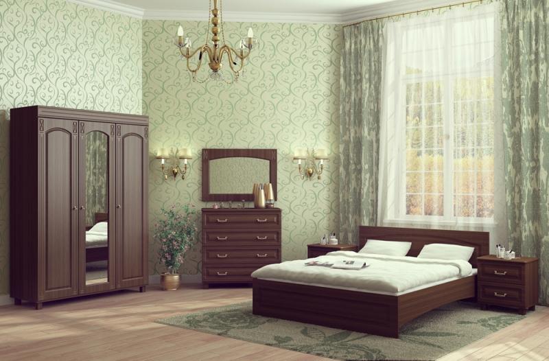 Модульная спальня Элизабет-2 набор эм 2 предмета 10 рябинка крас чер 1078070