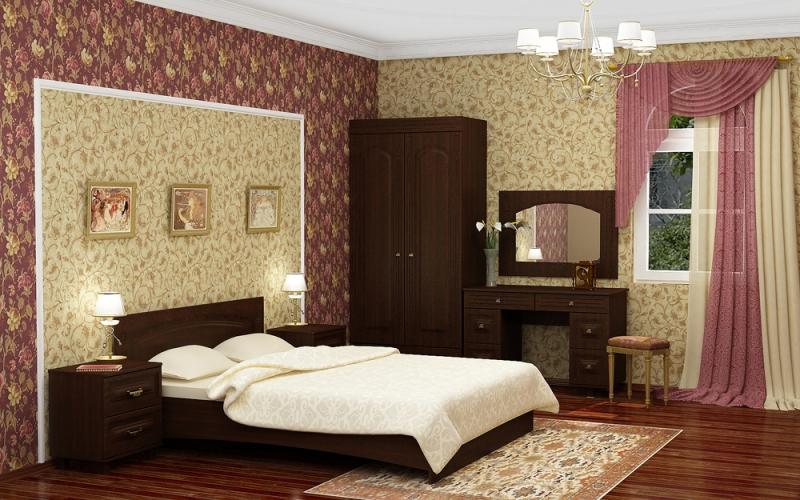 Модульная спальня Элизабет набор эм 02 шоколад 7ка021м 1148046
