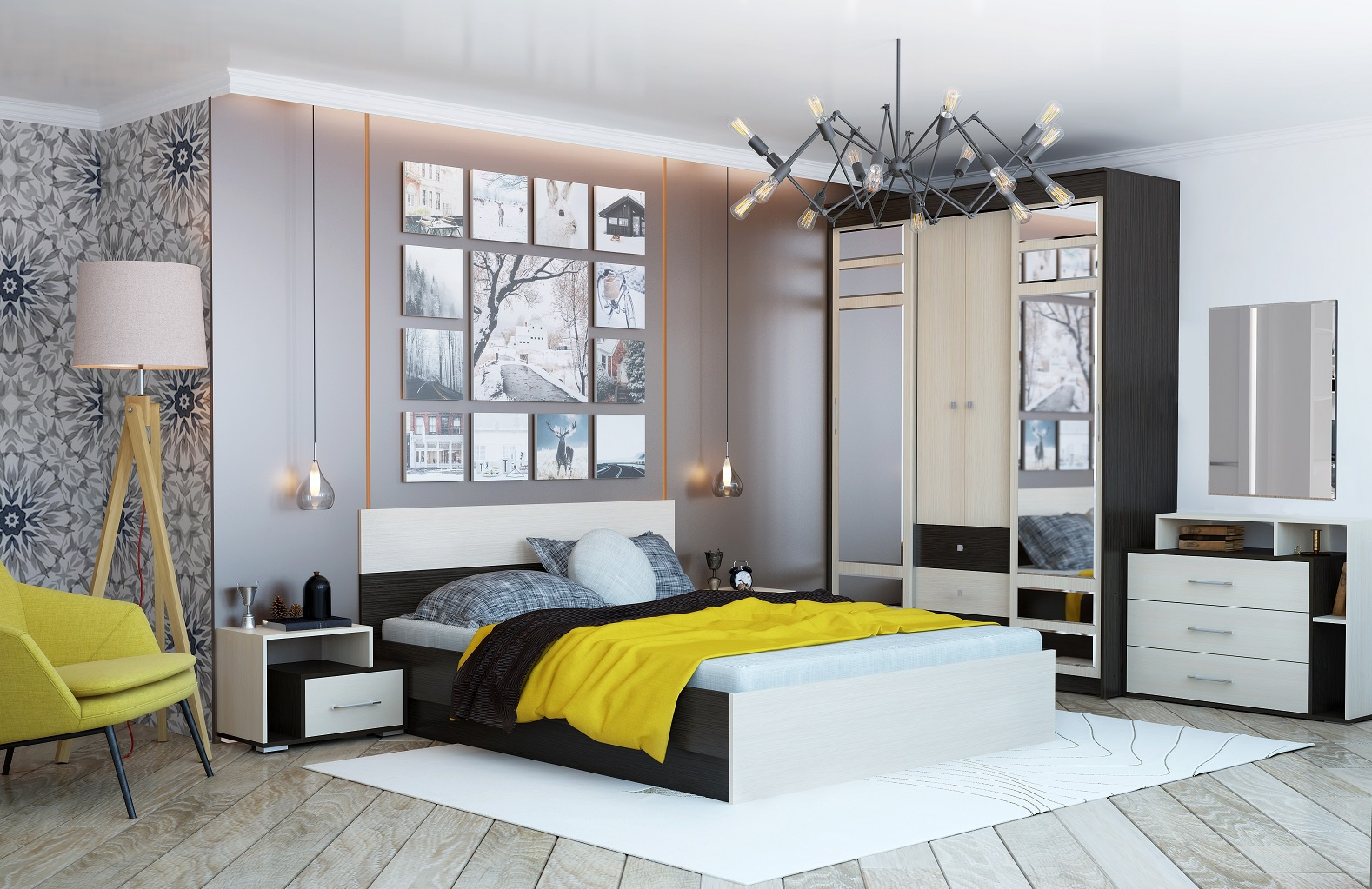 Модульная спальня Юнона-1