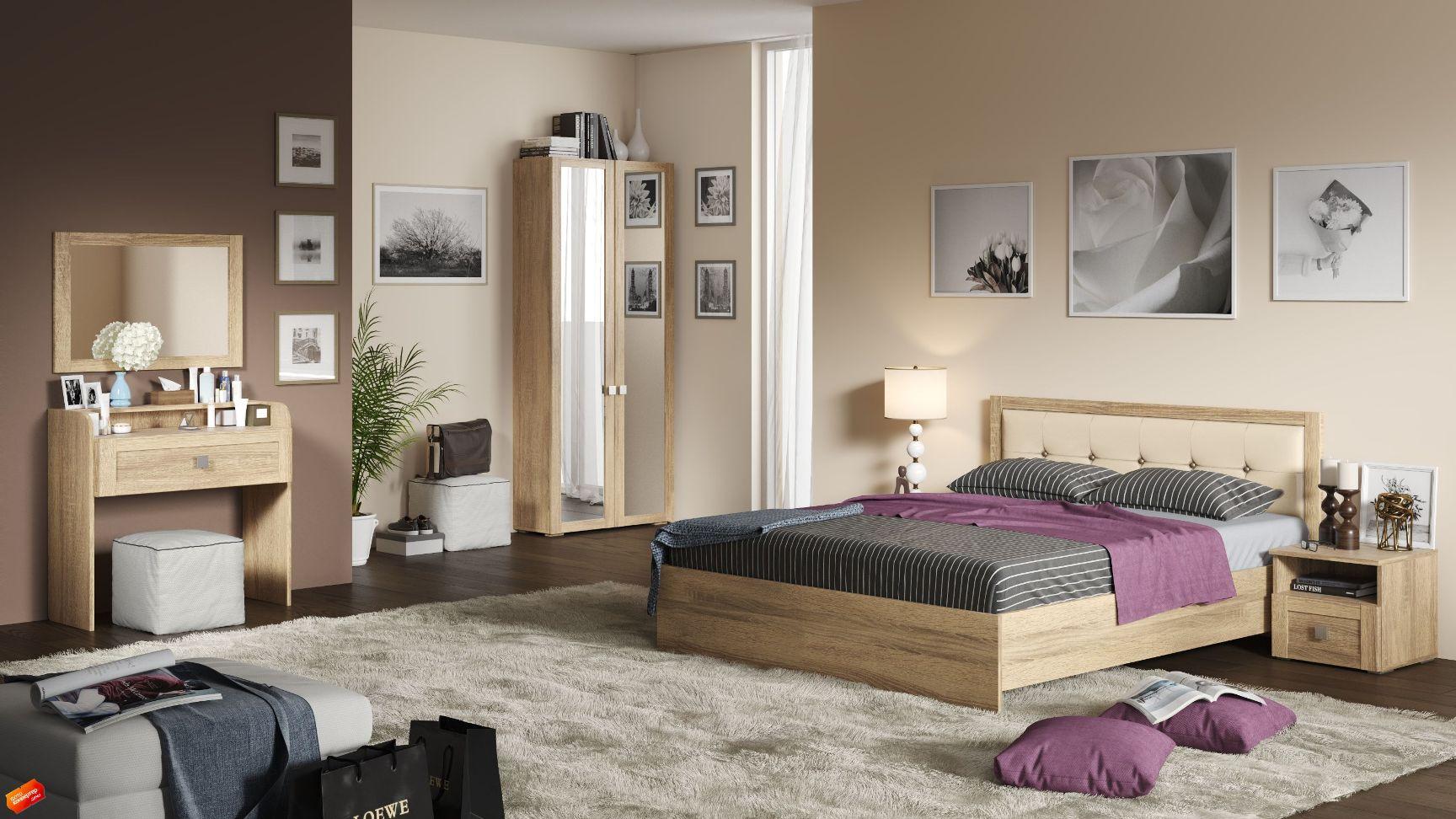 Модульная спальня Корсика Композиция-1 модульная спальня корсика композиция 1